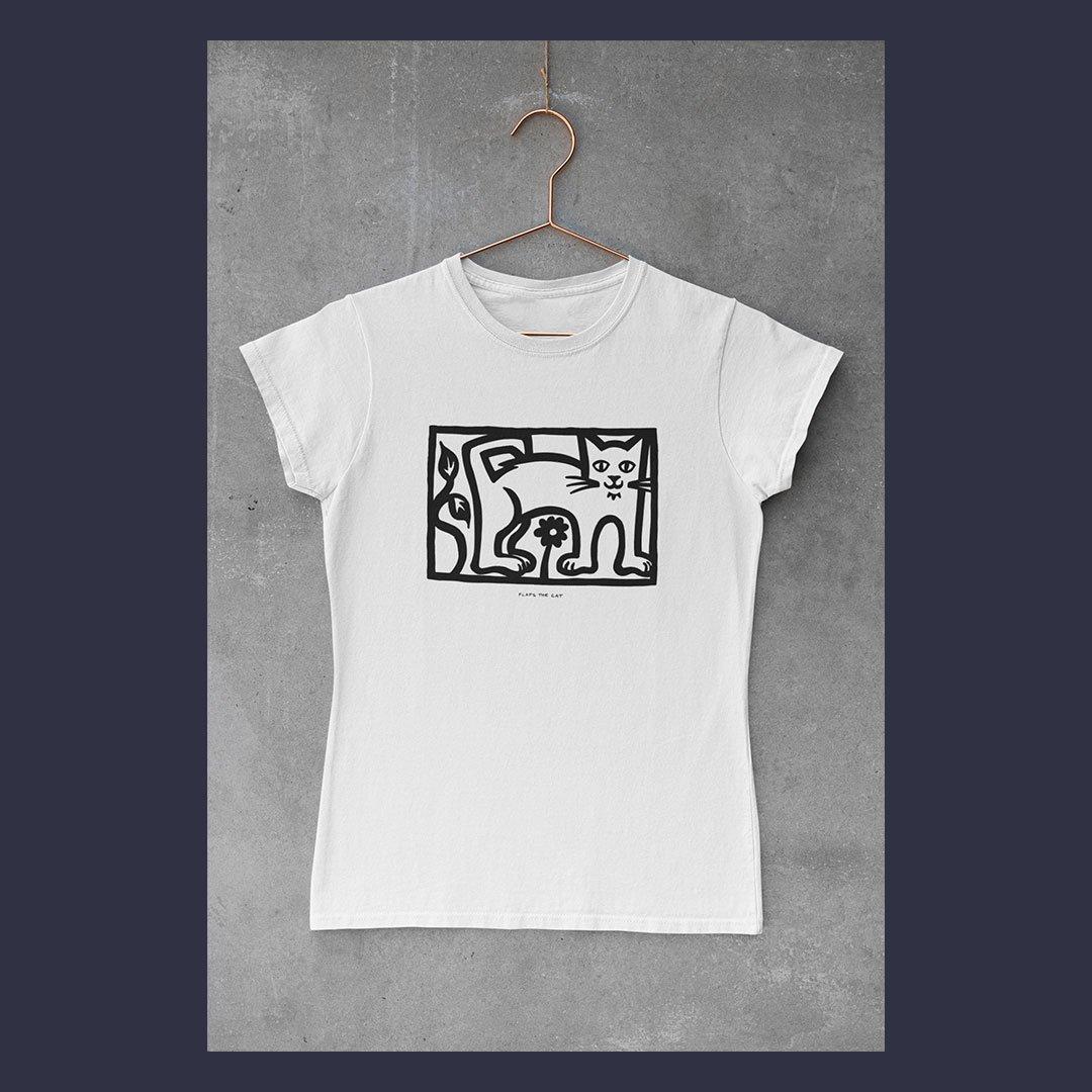 Flaps The Cat t-shirt