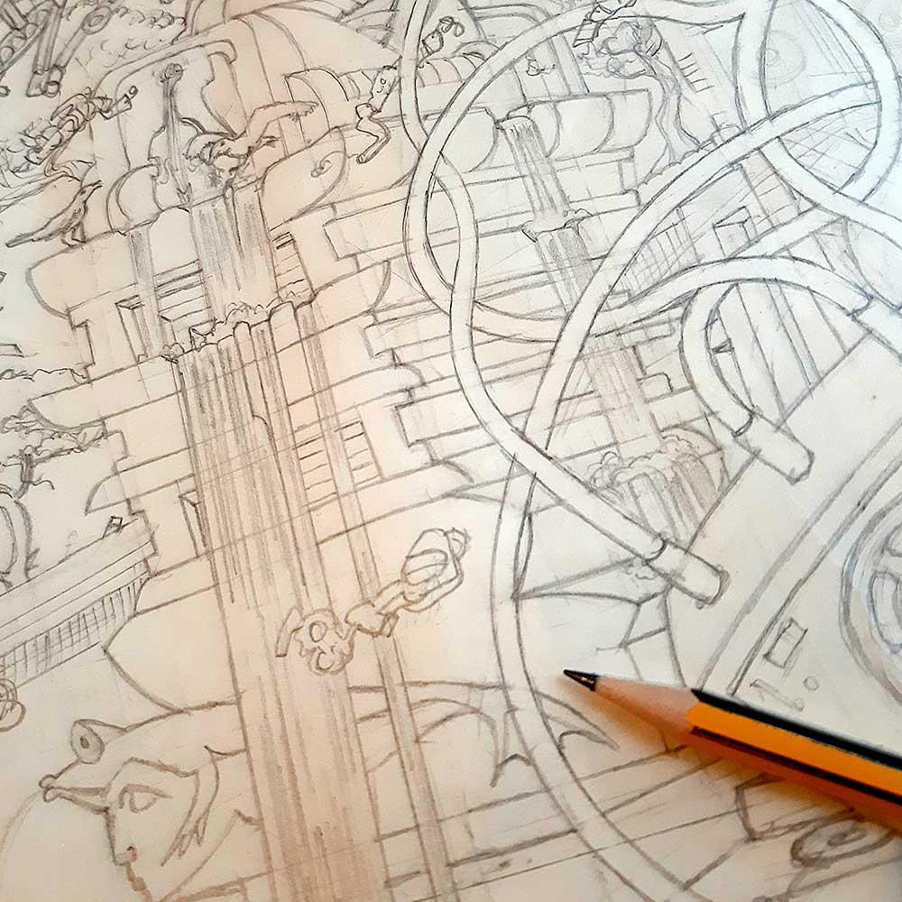 INP030 pencil sketches